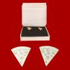 Pizza earrings gold