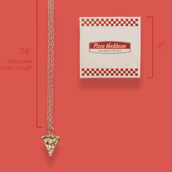 pizza necklace dimensions