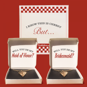 Bridesmaid Proposal Pizza Necklace Box