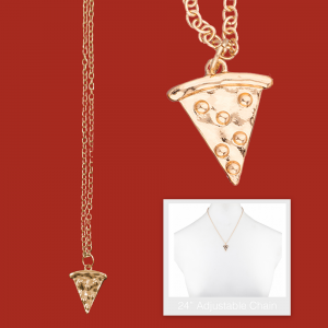 Bridesmaid Proposal Pizza Necklace