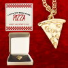 Pizza Valentine's Day card with pizza necklace