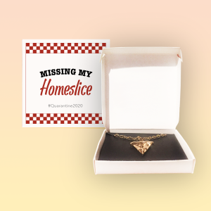 Missing My Homeslice Pizza Necklace Quarantine Greeting Card