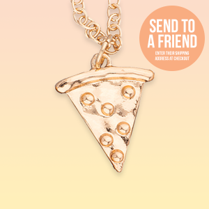 Send Quarantine Pizza Necklace Card to a friend